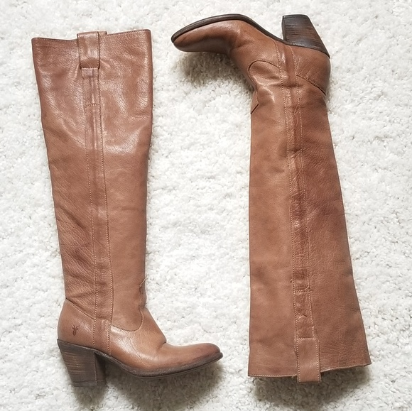 a76baaf89ee Frye Shoes | Otk Tall Brown Heeled Boots Size 5 12 | Poshmark